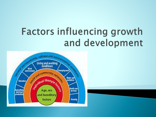 Factors influencing human growth and development - powerpoint presentation
