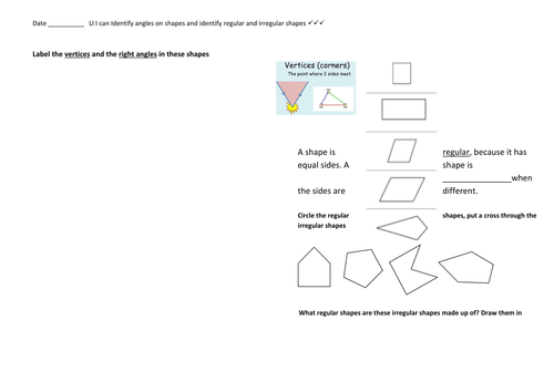 2D Shape - Identifying different vertices in each shape