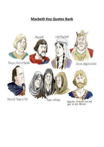 Macbeth Key Quotes Bank