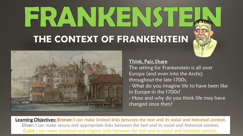 Frankenstein: The Context of Frankenstein