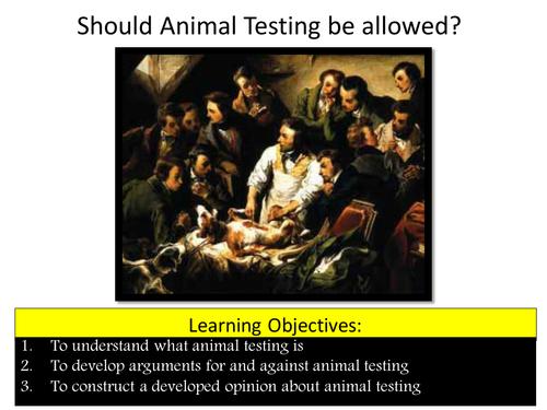 Animal Testing Debate - Speaking and Listening KS3/4 - Religious Studies