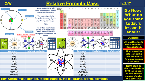 Relative Formula Mass | AQA C1 4.3 | New Spec 9-1 (2018)