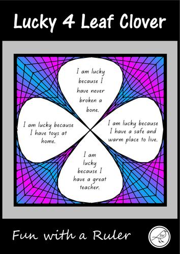 Lucky 4 Leaf Clover – Fun with a Ruler