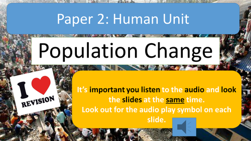 AQA A Geography Population Change Revision Notes with Audio Assistance