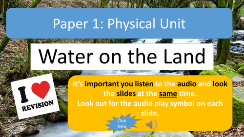 AQA A Geography Water on the Land Revision Notes with Audio Assistance
