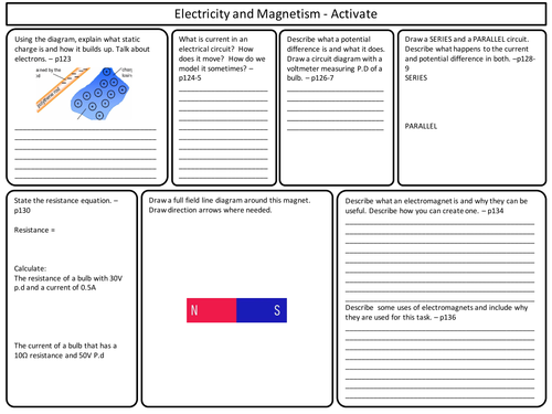 ks3 activate science electricity and magnetism topic revision by marcmarshall teaching. Black Bedroom Furniture Sets. Home Design Ideas