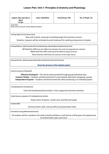 GCSE/ Btec Components of fitness worksheets by philpawson1 ...