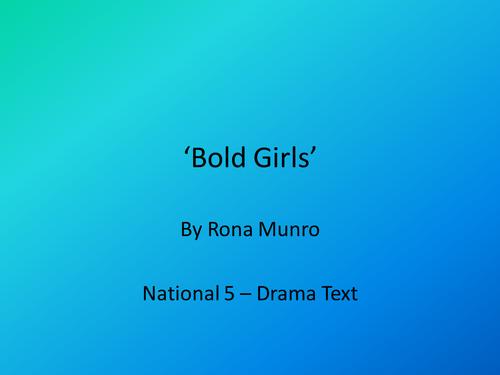 'Bold Girls' by Rona Munro