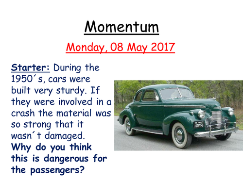 Momentum and Car Safety