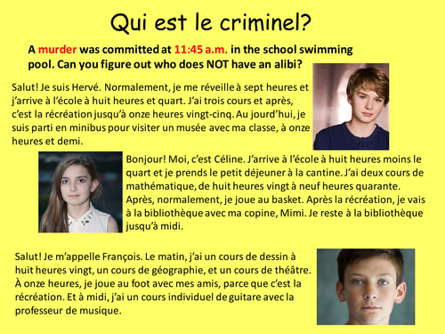 French Time Murder mystery