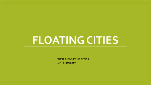 Floating Cities-Geography
