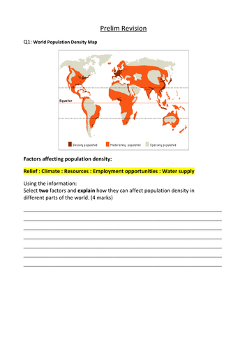 National 5 Geography Revision Questions