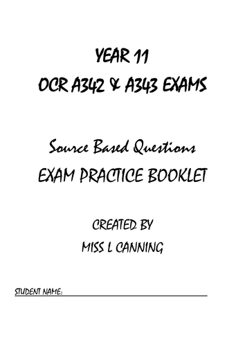 Current OCR GCSE Citizenship Spec Revision Resources