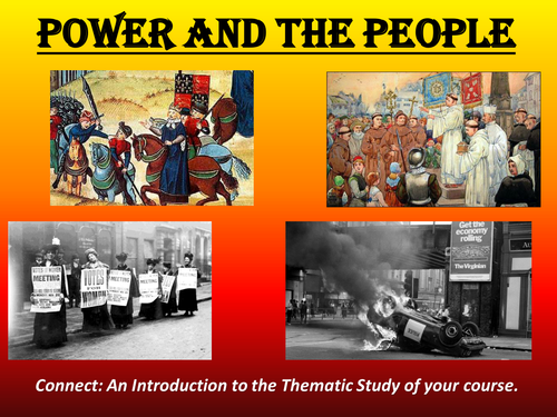 New History GCSE AQA Power and the People introduction lesson