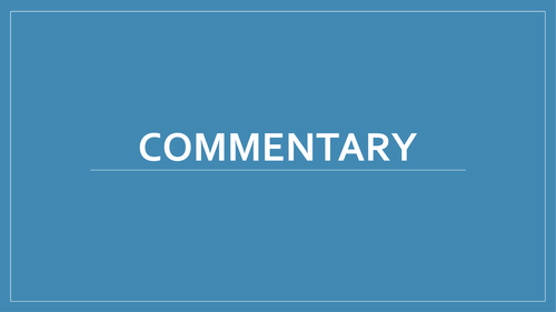 AQA English Language original writing - commentary