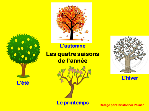 Primary French: The four seasons