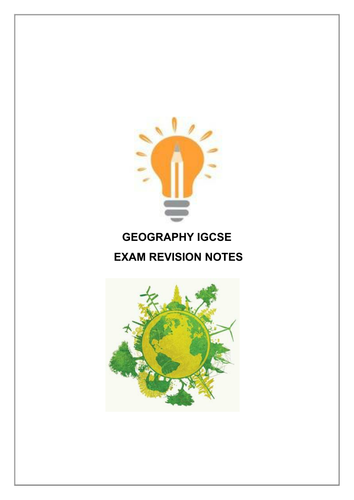 IGCSE Geography Revision
