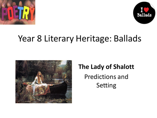 Lady of Shallott full SOW