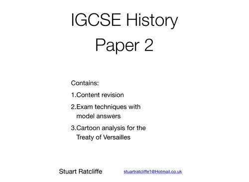 CIE IGCSE History Paper 2 guide