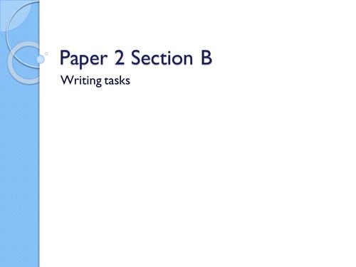 AQA English Paper 2 Section B