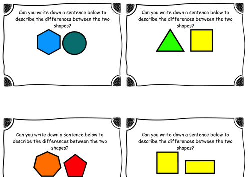 KS1 - Year 2 Maths - Differences between 2D shapes - Greater Depth