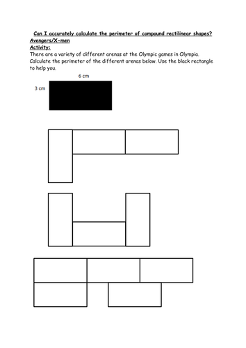 calculating the perimeter of compound rectilinear shapes ks2 year 5 6 worksheet by eckford91. Black Bedroom Furniture Sets. Home Design Ideas