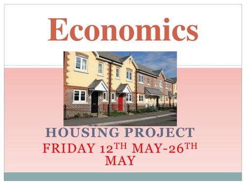 Economics Housing project