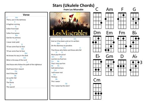 Stars (Les Miserables) - Piano and Ukulele Chords