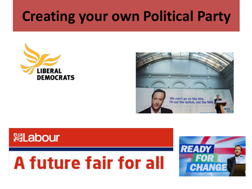 Creating your own political party lesson