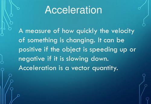 New Edexcel Science GCSE Physics Key Words - SP1 (motion)
