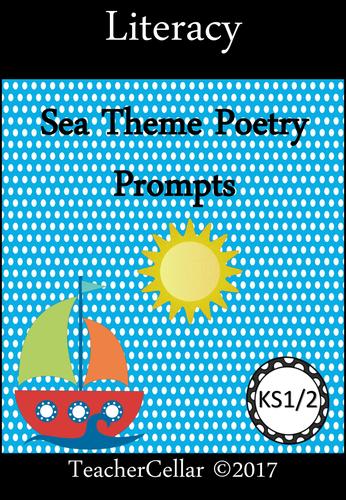 Poetry Prompts Sea Theme KS1/2