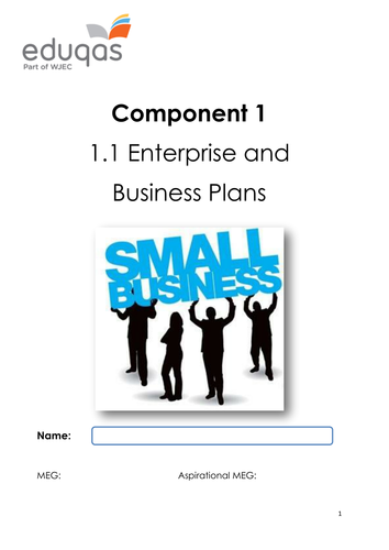 Enterprise and Business Plans Workbook