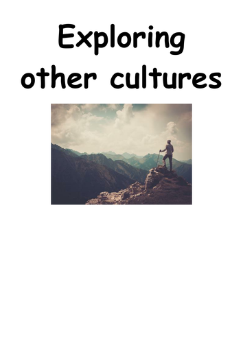 """AQA English Language paper 2- anthology of extracts and questions """"Exploring cultures"""""""