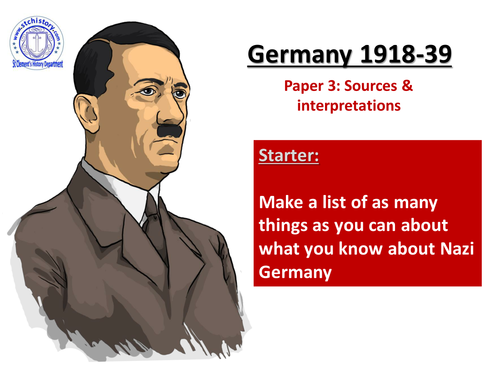 Edexcel 9-1 Germany Legacy of WW1  (Editable)