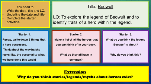 the traits of the hero beowulf
