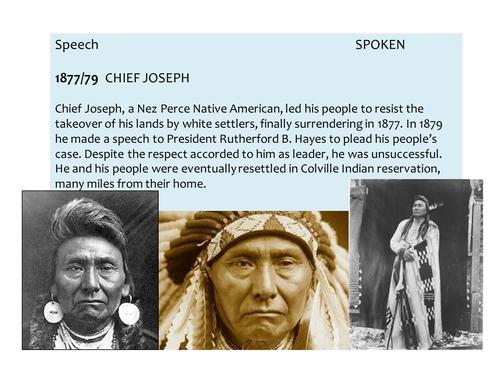OCR EMC Anthology -Chief Joseph Surrender Speech, 1877 and Visit to Washington DC, 1879