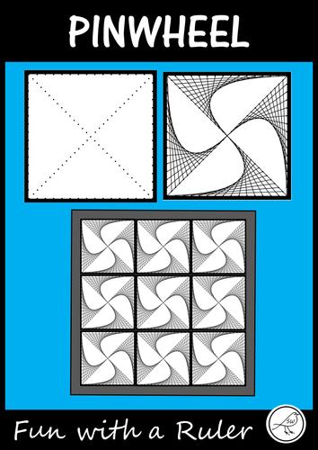 Math Art – Parabolic Curves - Pinwheel