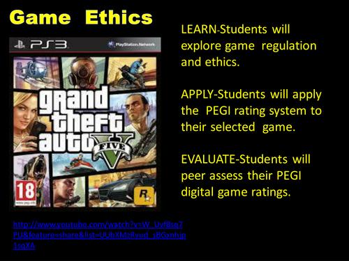 PEGI Game Rating Media Studies