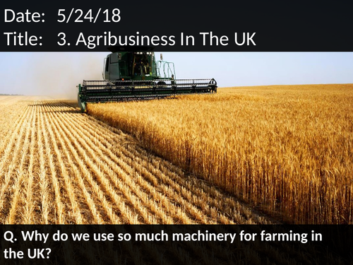 3. Agribusiness In The UK
