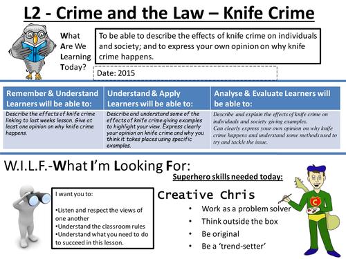 Knife Crime Lesson