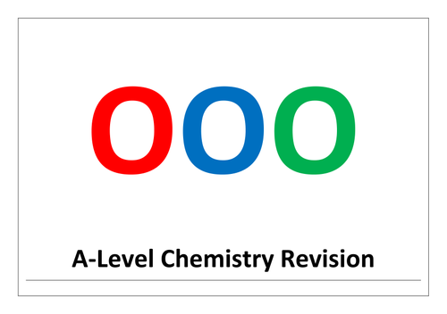 A-level chemistry revision, synoptic stretch and challenge problems - odd one out