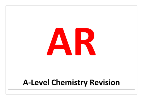 A-level chemistry revision, synoptic stretch and challenge problems - assertion/reason questions