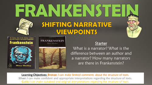 Frankenstein: Shifting Narrative Viewpoints