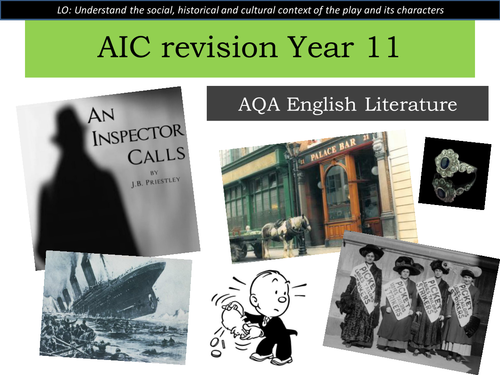An Inspector Calls thorough exam revision for Year 11