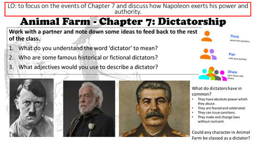 Animal Farm George Orwell Chapter 9 Lesson and Resources