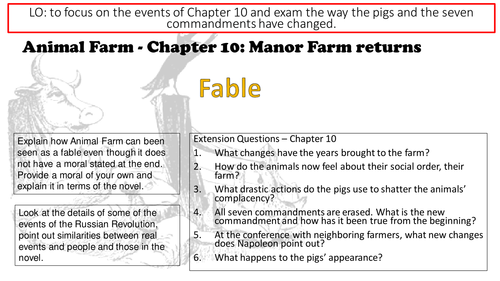 Animal Farm George Orwell Chapter 10 Lesson and Resources