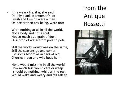 Christina Rossetti - From the Antique