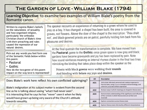 higher english sample critical essay on the novel the kite runner  william blake the garden of love the echoing green a level aqa love through the ages