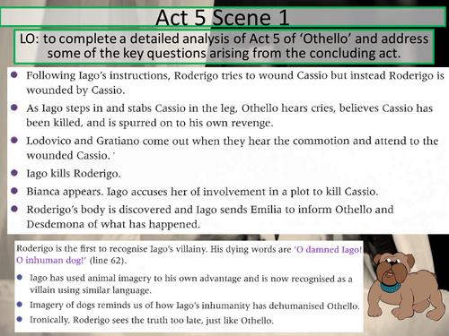 Othello William Shakespeare Act 5