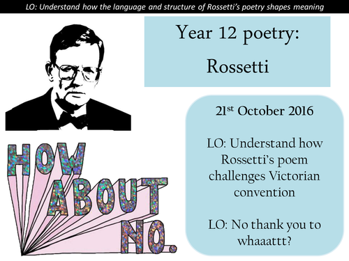 Christina Rossetti - No Thank You John revision - AS English Literature poetry revision